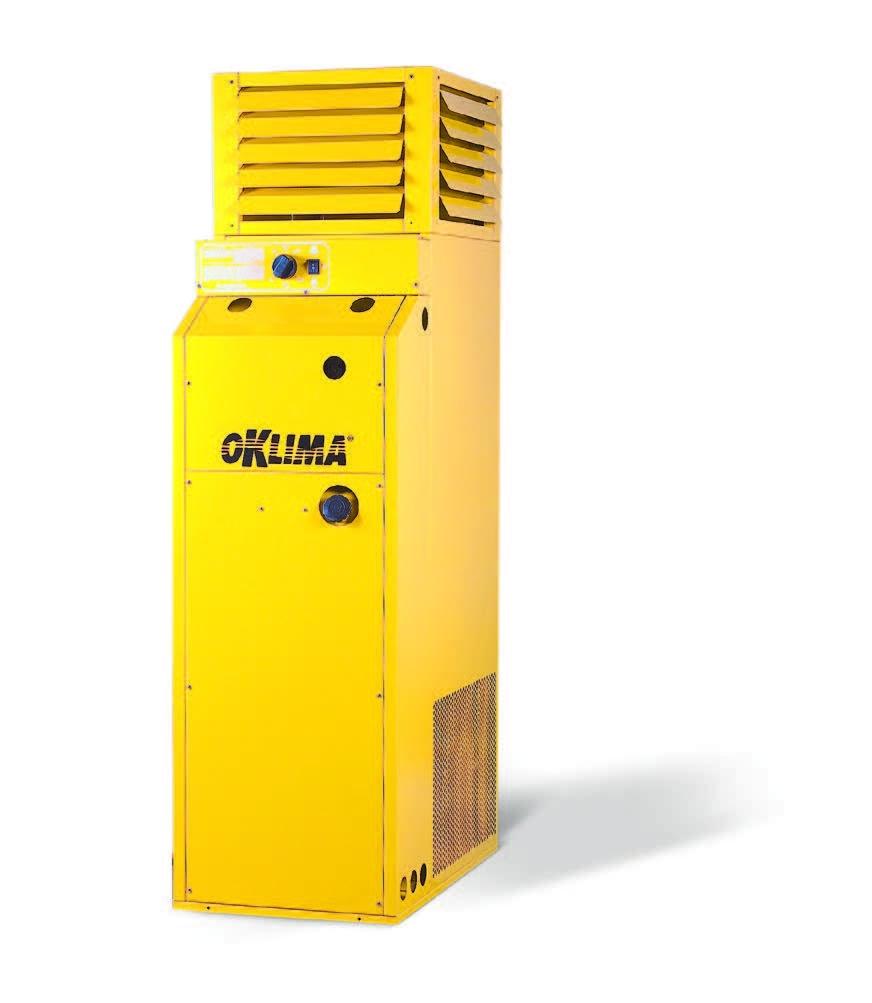 Промышленные стационарные нагреватели воздуха непрямого нагрева PLUG&PLAY Oklima SF