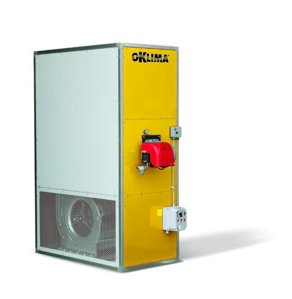 Промышленные стационарные нагреватели воздуха непрямого нагрева Oklima SP