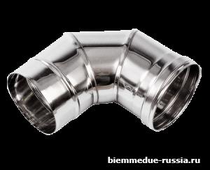 Колено дымохода 90° из нержавеющей стали Ballu-Biemmedue арт. 02AC421
