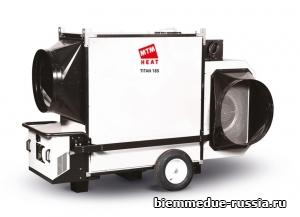 Мобильный нагреватель воздуха непрямого нагрева большой мощности с центробежным вентилятором Ballu-Biemmedue TITAN 185T